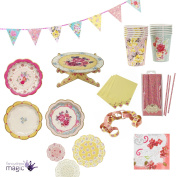 Talking Tables Truly Scrumptious Vintage Floral Afternoon Tea Set Partyware Lot