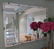 Large Mirror - Antique White colour