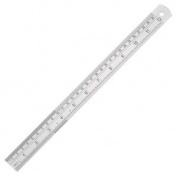 """Stainless Steel Rule - English & Metric Markings 24""""/600mm"""