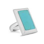 Tuscany Silver Large Rectangle Turquoise Ring