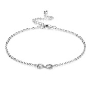 Infinity Anklet with Crystals from ® in Gift Box