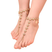 Tonsee 1PC Simple Anklet Coin Fringed Anklets