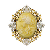 Beauty Head Brooches Classic Retro Style Yellow Head Beauty Accessories Beauty Queen Head Resin Brooch