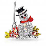 Snowman Christmas Brooch in Gift Box