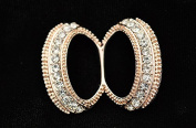 Double Rings Scarf ring Rhinestone Scarves Buckle Women Jewellery