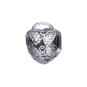 Genuine 925 Sterling Silver Flowers Bead European Style Charm