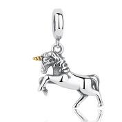 Unicorn Dangle 925 Sterling Silver Bead Fits Pandora Charm Bracelet