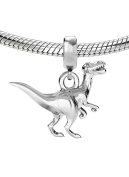 Genuine Silver 925 dinosaur charm bead ideal for branded bracelet or necklace C5B