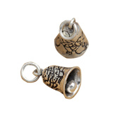 3 Sterling Silver Dragon Bell Charms 925 Silver Jingle Bell Pendants