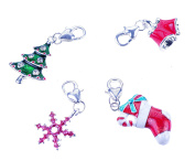 4 x Assorted Christmas Charms