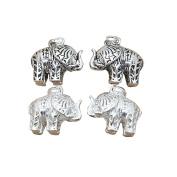 Sterling Silver Elephant Charm, 925 Silver Elephant Pendant, Oxidised Silver Elephant, Bright Silver Elephant, 1 Piece