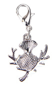 Celtic Charms Silver Scottish Thistle Clip on Charm