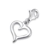 Heart Lobster Charm in 925 Stamped Sterling Silver