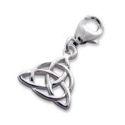 Triangle Lobster Charm in 925 Stamped Sterling Silver