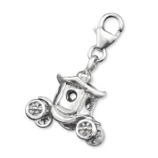 Carriage Lobster Charm in 925 Stamped Sterling Silver