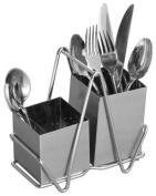 Premier Housewares Cutlery Caddy - Stainless Steel