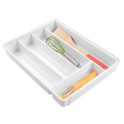 Mdesign Expandable Kitchen Drawer Organiser For Flatware, Cutlery, Gadgets -