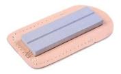 Eze-lap Medium Grit Pocket Stone 400 2.5cm X 7.6cm X 0.6cm In A Leather Pouch