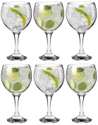 Rink Drink Spanish Gin & Tonic Cocktail Glasses - 645ml 22.7oz Pack Of 6 Balloon