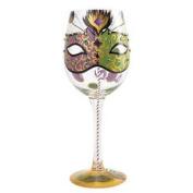 Lolita Mardi Gras Wine Glass 4056864 New Boxed