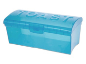 3.5l Blue Plastic Toast Bread Box Container Fresh Storage With Lid