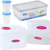 Clear Plastic Food Containers Kitchen Tubs With Lids