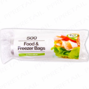 500x Freezer Food Bags Extra Large Roll Keep Fresh Lunch Sandwich Clear Storage