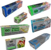 Freezer Food Bags. Re-sealable Slide Or Zip Seal Lock Large / Multi Size Kitchen