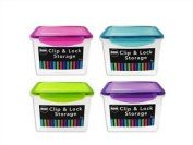 Oblong Clip Lock Food Storage Container - 1l