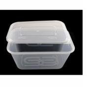 10 X Reusable Plastic Food Grade Storage Containers + 10 Lids - Volume 650ml