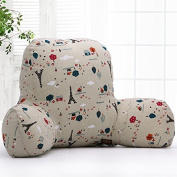 Misslight Luxus Reading Pillow Super Comfortable Chair Bed Support Cushion Bed Back Rest Lumbar Cushion T-Shape Cotton Insert
