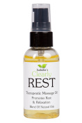 Isabella's Clearly REST, 60ml Promotes rest, relaxation during massage. Pure therapeutic grade and natural oils with Avocado, Grapeseed, Jojoba oils with Yarrow, Orange, Chamomile & Tangerine.