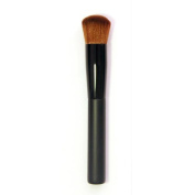 1pc Beauty Blusher Multi-functional Brush, Foundation Face Powder Black Wood Cosmetic Makeup Brushes