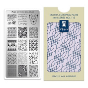 Moyra France Official Shop – Moyra Mini Stamping Plate No. 113 Love Is All Around
