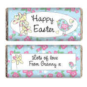 Personalised Daffodil & Floral Chick Easter Chocolate Bar for Kids Gifts Presents for Children Toddler Girls Boys by Gifts for Children