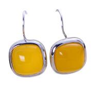 Jade Angel 925 Sterling Silver Synthetic Yellow Chalcedony Dangel Earrings
