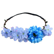 Zhuhaitf Casual Colourful Flower Women Vacation Seaside Fake Wreath Accessories Hair Clip Special Flowers Elastic Headdress