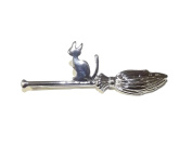 hairpin for little and grown up witches, little cat on broom