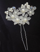 Bridal Wedding Pearl, Crystal & Floral Hair Piece - Stunning Detail