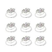 TOOKY 12Pcs Lot Wedding Bridal Crystal Pearl Flower Swirl Twist Hair pin Pins Hair Clips