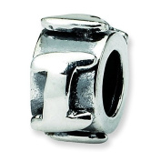 Sterling Silver Reflections Letter I Message Bead Charm