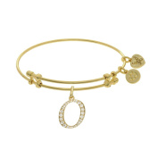 Brass With Yellow Finish Initial O Charm For Angelica Bangle Bracelet