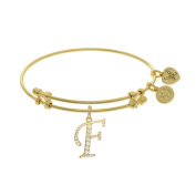 Brass With Yellow Finish Initial F Charm For Angelica Bangle Bracelet