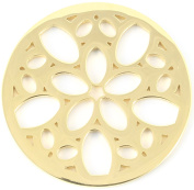 Milano Coin Disc For Milano Keeper Pendant Holder Locket Carrier Petal Cutout