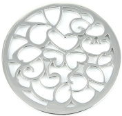 Milano Coin Disc For Milano Keeper Pendant Holder Locket Carrier Heart Scroll