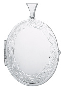 Large Sterling Silver 4 Photograph Family Oval Locket - British Made - Hallmarked