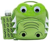 Smash 3d Crocodile Junior Lunch Bag/box And 350ml Bottle Set