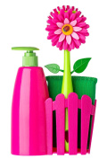 Vigar Flower Power Set Sink With Dispenser, Plastic, Magenta And Green