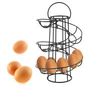 Helter Skelter Spiral Egg Holder Holds 18 Eggs Swirl Storage Kitchen Stand Rack