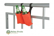 Fallen Fruits Hook and loop Canvas Balcony Beer Bottle Cosy Holder For 2 Bottles